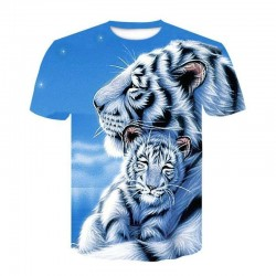 T Shirt Tigre Blanc