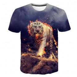 T Shirt Imprimé Tigre