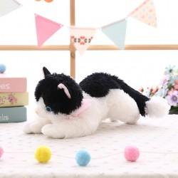 Peluche Chat Noir et Blanc