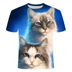 T Shirt Imprimé Chat