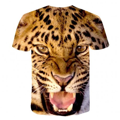T Shirt Tête de Léopard