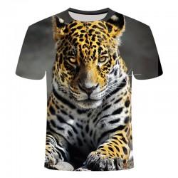 T Shirt Léopard Gris