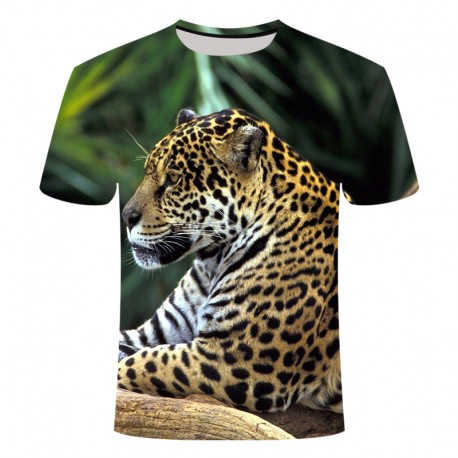 T Shirt Léopard Vert