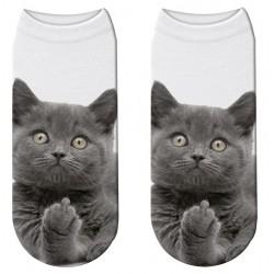 Chaussettes chat doigt d'honneur