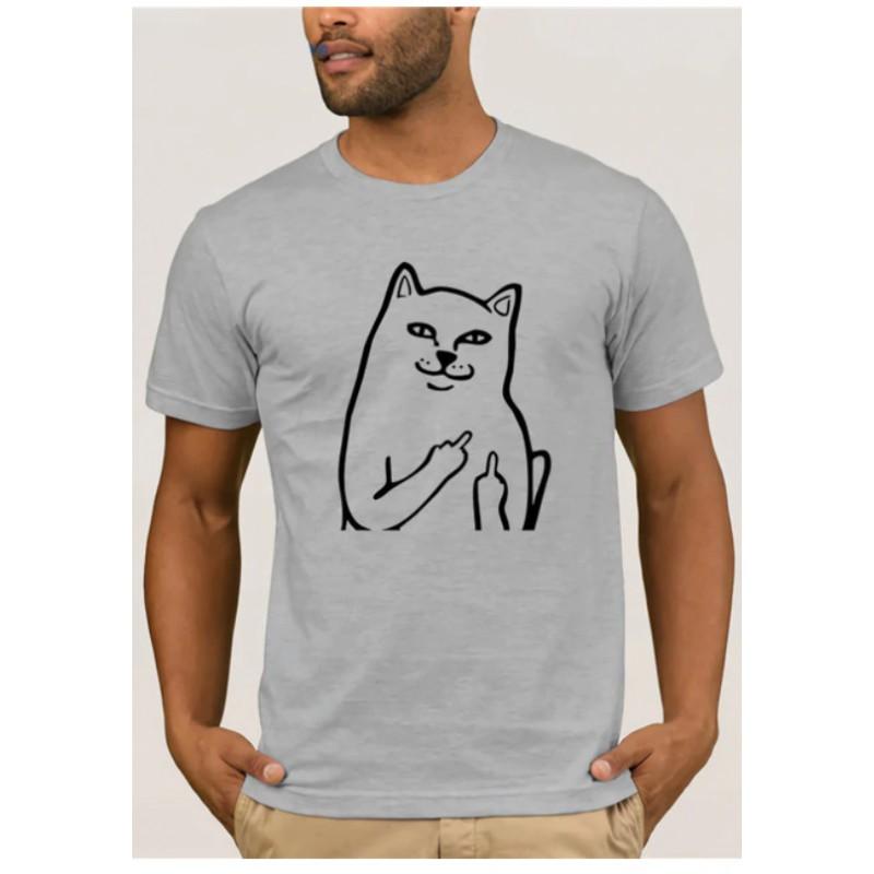 tee shirt chat doigt d'honneur