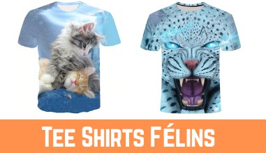 Tee Shirts Félins